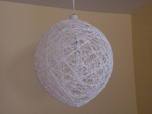 Bubble lampshade hanging
