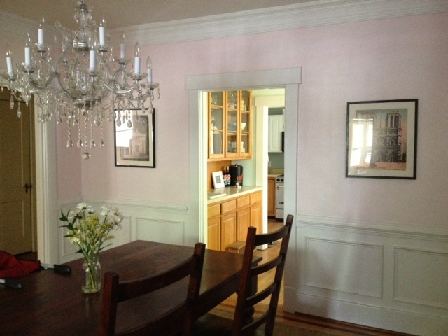 Dining room pink grape did it