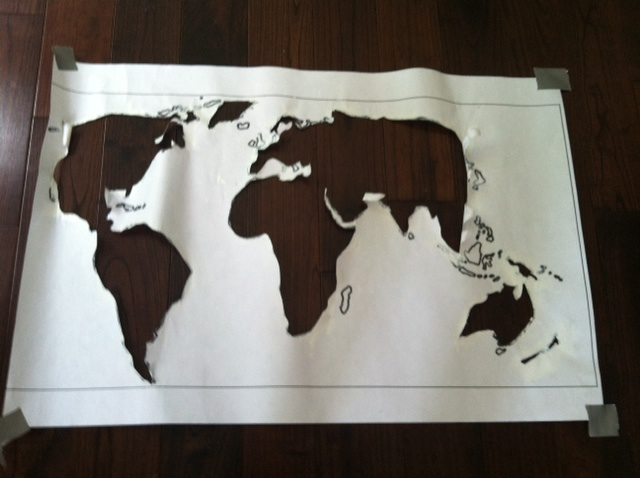 Diy light up world map world map wood 17 cool ideas for world map world map pallet art gumiabroncs Choice Image