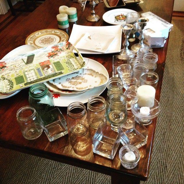 GDI - table, glassware
