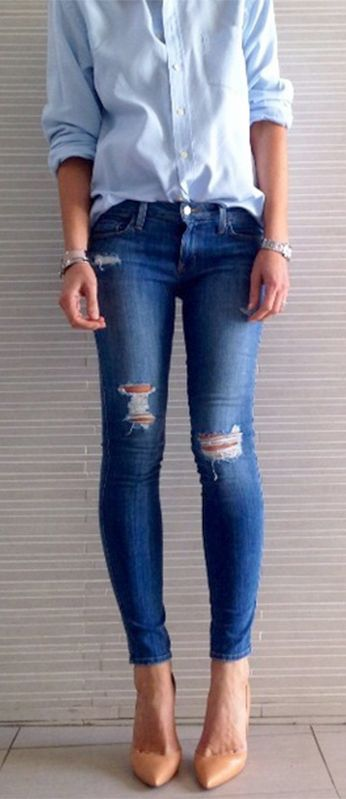GDI - pinterest ripped jeans