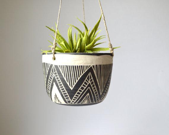 GDI - tribal print ceramic planter