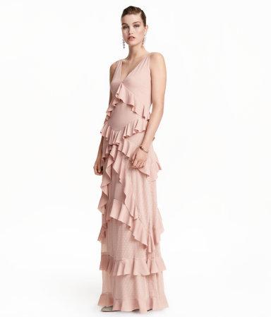 GDI - pink maxi dress H&M
