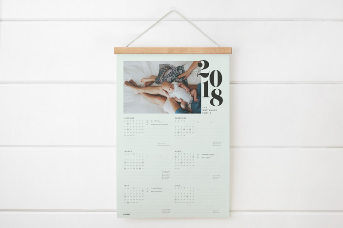Stacked year calendar from Minted