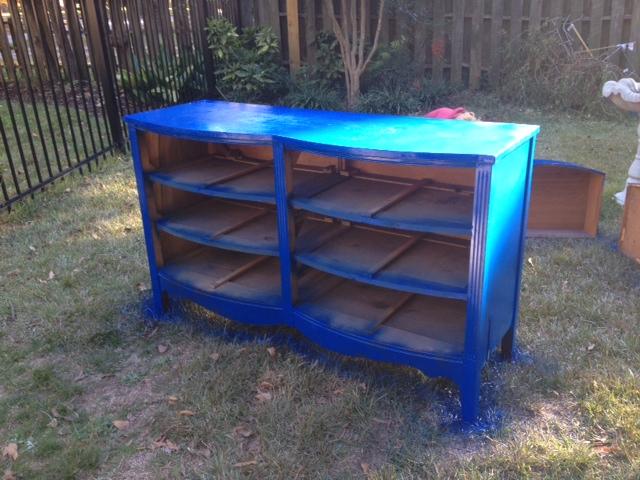 Grape Did It - blue dresser