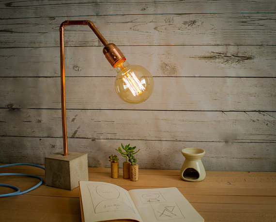 GDI - industrial concrete lamp