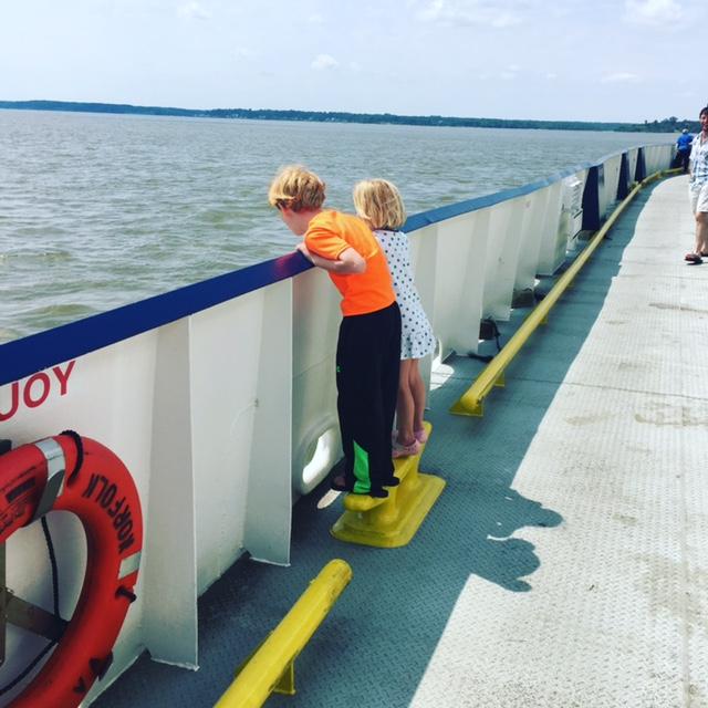 GDI - CW kids on ferry