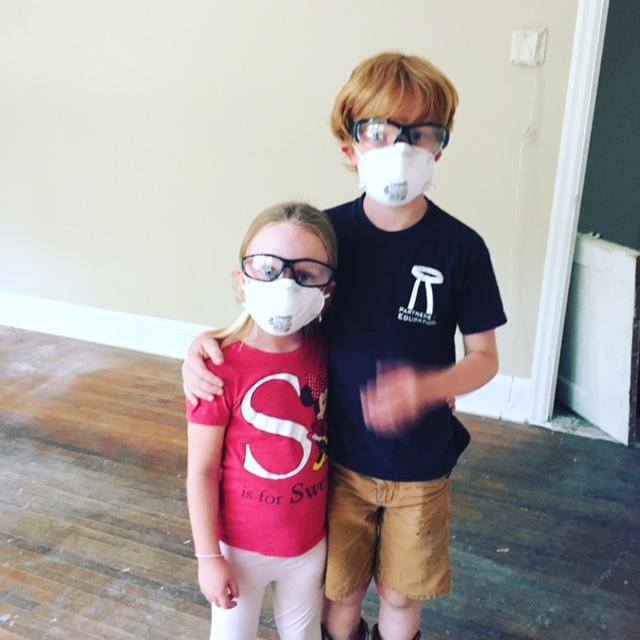 Kids helping