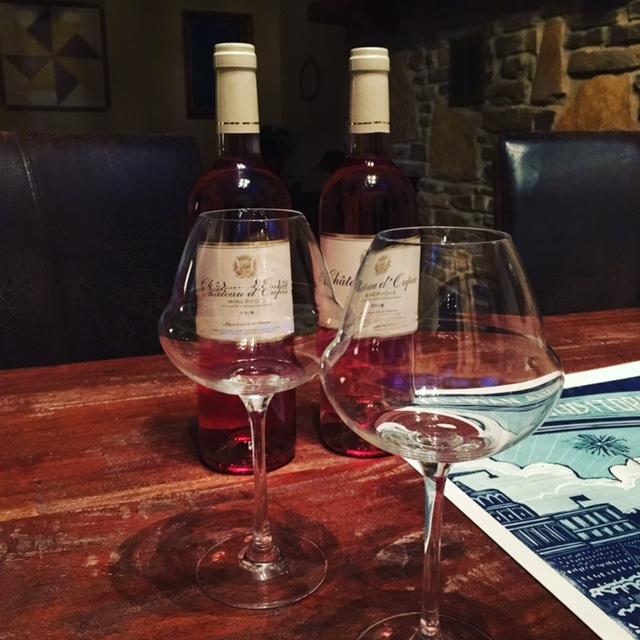 GDI - wine glasses rose