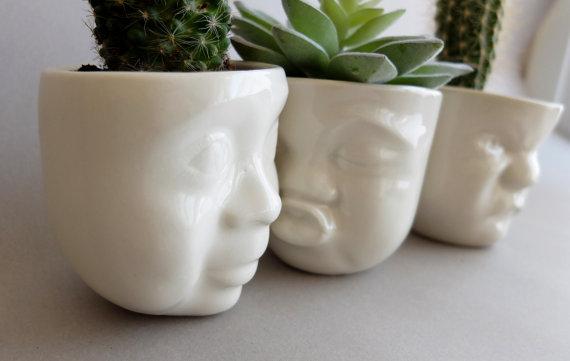 GDI - head planters etsy
