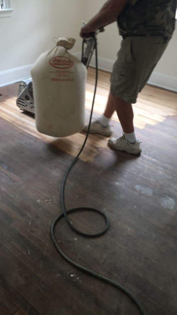 Marling floors being sanded