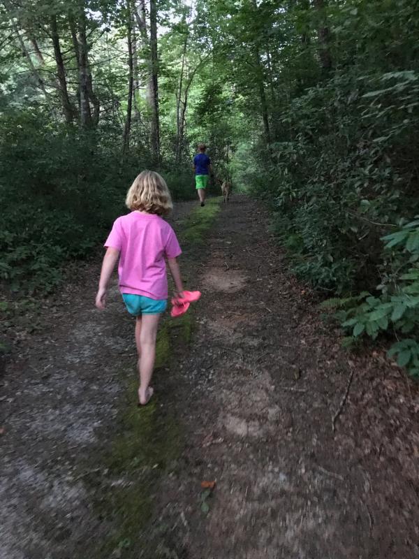Kids walk
